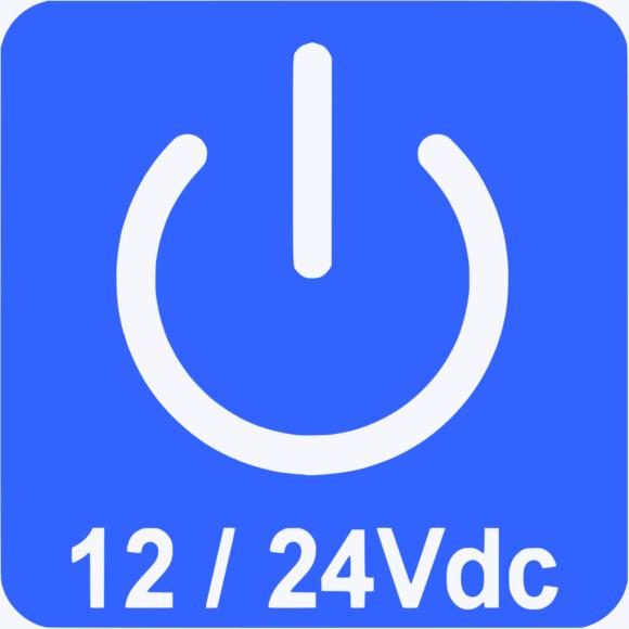 Loop detector powered by 12 or 24 Vdc.