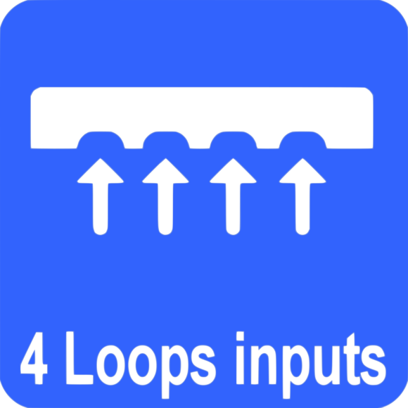 Loop detector with 4 inductive loops inputs/outputs.