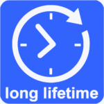 The magnetic inductive loop has a very long lifetime, around 8 years.