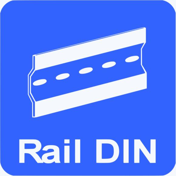 Loop detector is mountable on a rail DIN.